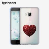 قاب محافظ HTC U Play مدل PLdesign Red Heart Phone Case